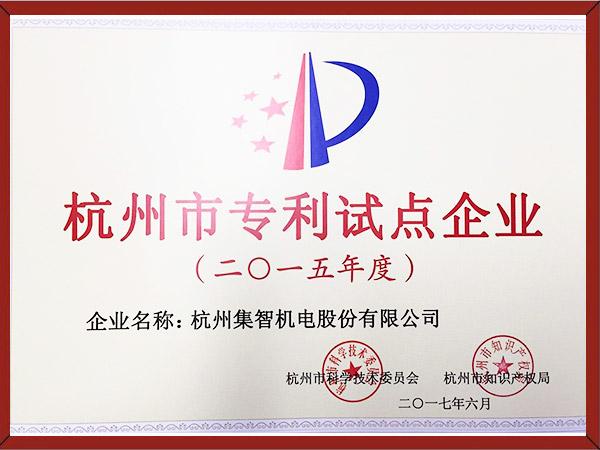 杭州市专利试点企业(2015.6)